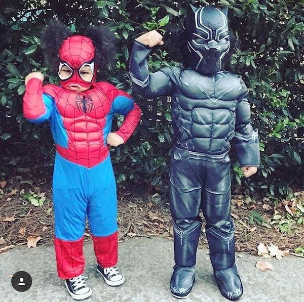 """""""My daughter is 4 now and has always broken the stereotypes. She loves superheroes and was Spider-Man for Halloween (muscles"""