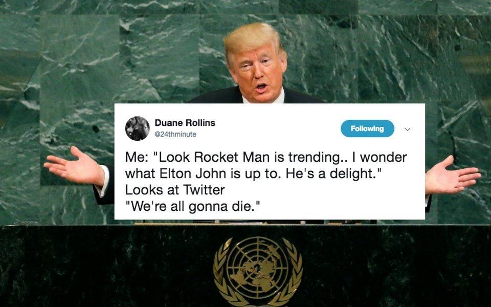 Trump Called Kim Jong Un 'Rocket Man' And Twitter Just