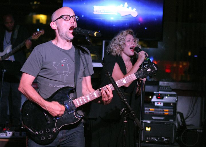 Singer-songwriter Moby performs onstage at The Concert Across America To End Gun Violence at The Standard Hotel on September