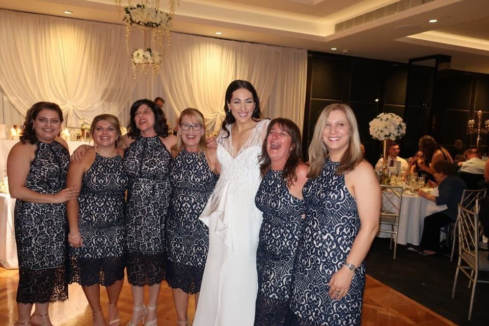Though they all looked stunning these ladies were not bridesmaids but instead turned up wearing the same dress