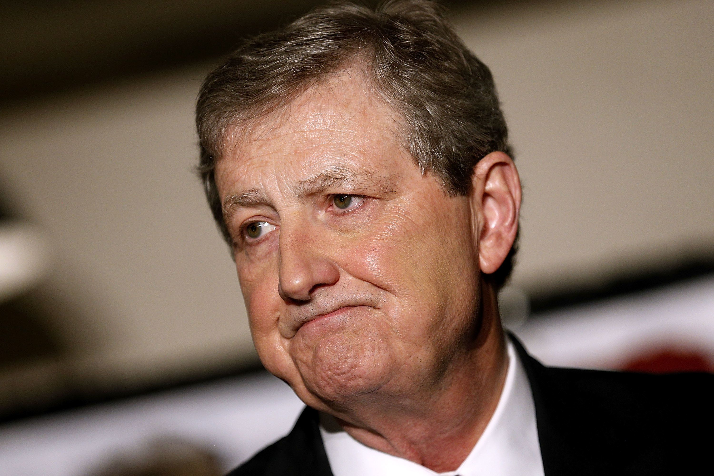BATON ROUGE, LA - DECEMBER 10:  U.S. Senate Republican candidate John Kennedy delivers a victory speech during an election party on December 10, 2016 in Baton Rouge, Louisiana. Kennedy's victory further strengthens the Republican's majority hold over the U.S. Senate.  (Photo by Jonathan Bachman/Getty Images)