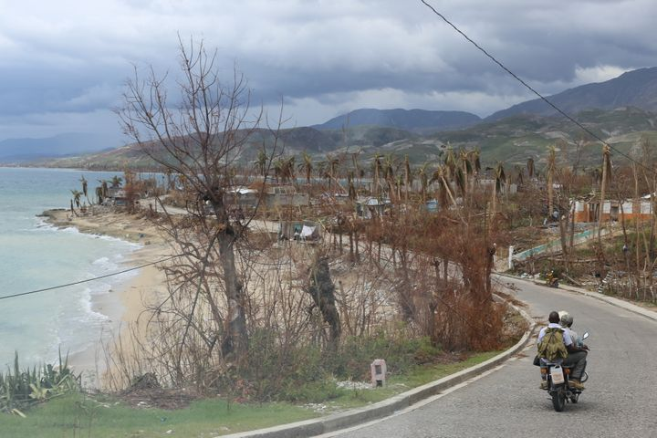 Part of the Haitian coastline in the wake of Hurricane Matthew.
