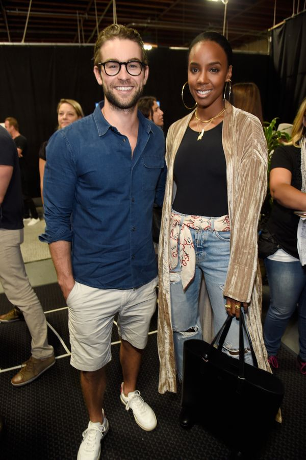 Pictured with Kelly Rowland during the Hand in Hand telethon.