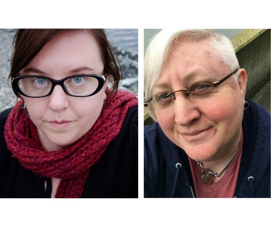 White Nonsense Roundup founders Terri Kempton, left, and Layla Tromble.