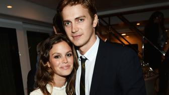 CANNES, FRANCE - MAY 19:  Actors Rachel Bilson and Hayden Christensen attend the Glacier Films launch party hosted by Hayden C and Michael Saylor aboard the Yacht Harle on May 19, 2013 in Cannes, France.  (Photo by Michael Buckner/Getty Images for Torch)