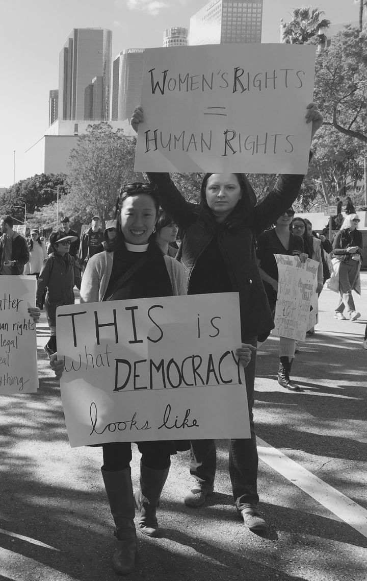 With a good friend and fellow progressive Christian at the 2017 Women's March in Los Angeles.