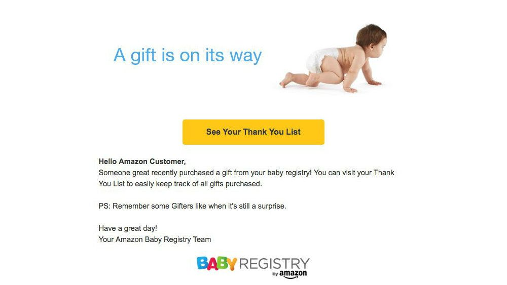 Amazon Emails Customers With Fake Baby News