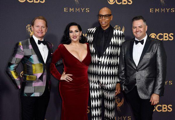 The judges of <em>RuPaul</em>'s <em>Drag Race </em>— Carson Kressley, Michelle Visage, Emmy-winner RuPaul and Ross Mathews —