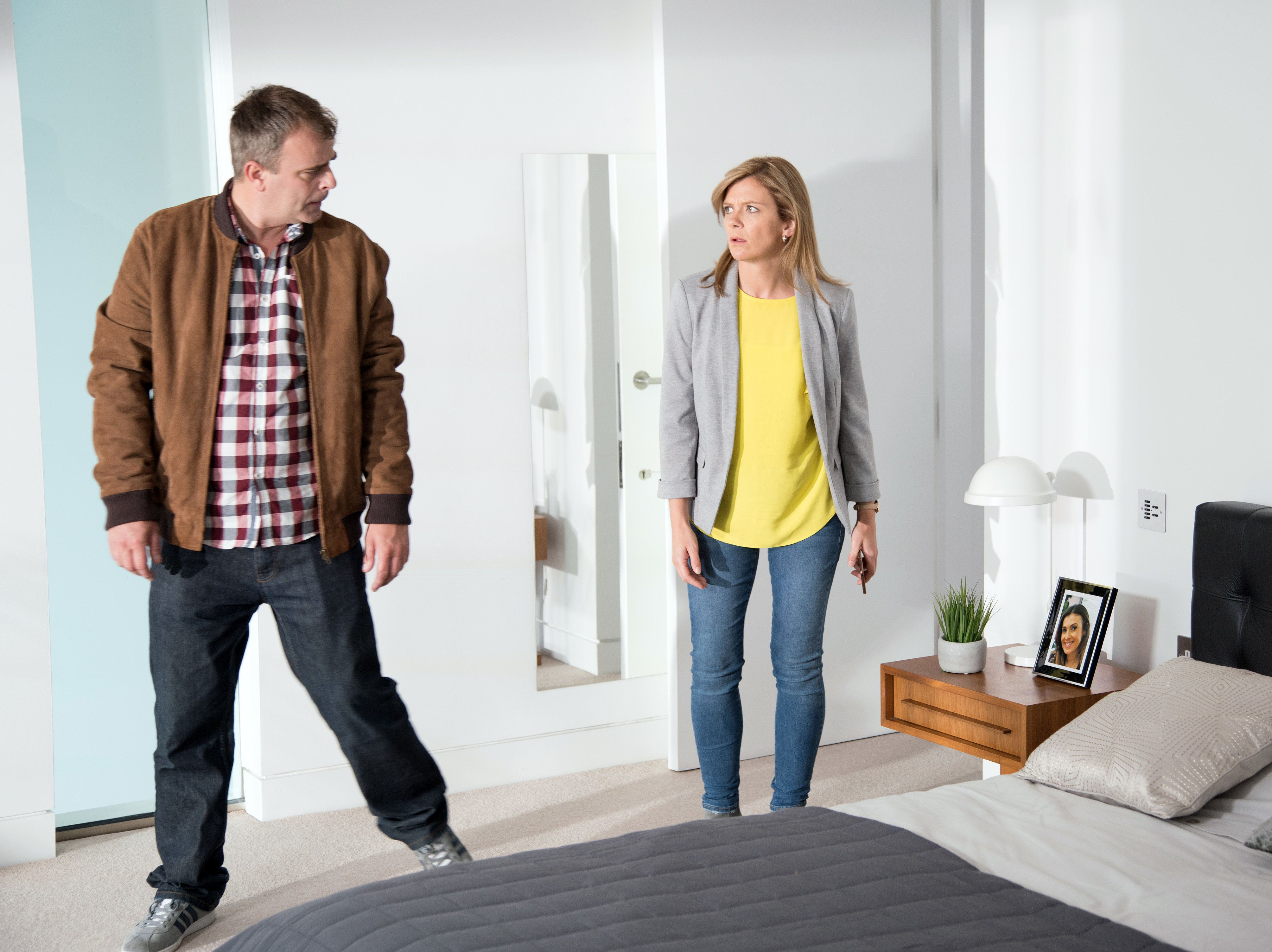 Next week, Steve and Leanne will join forces to save Michelle from her stalker
