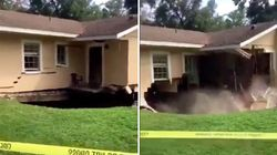 Video Shows Sinkhole Swallowing Part Of Florida Home After