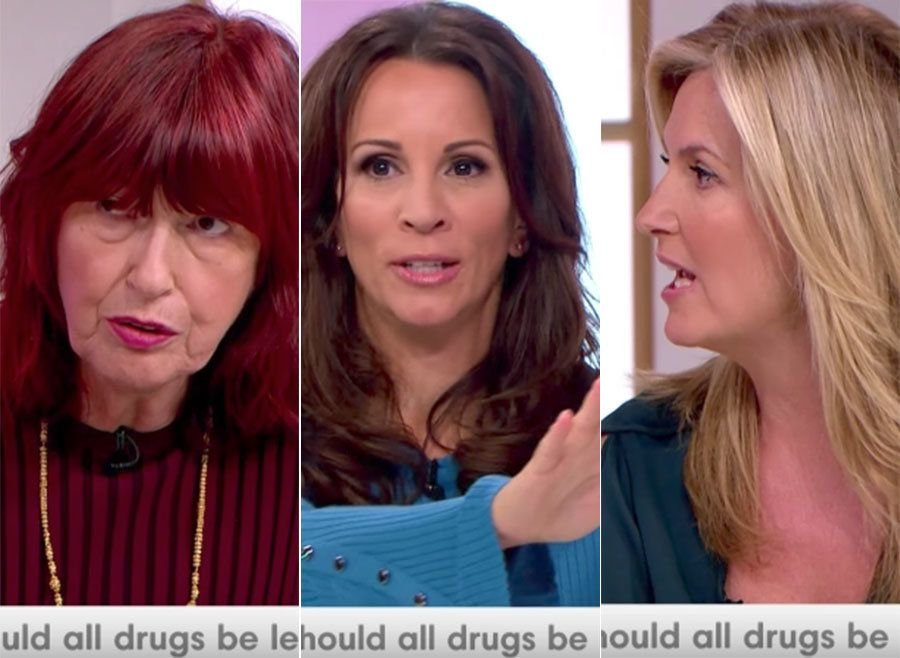 Janet Street-Porter And Penny Lancaster Clash During 'Loose Women' Drugs