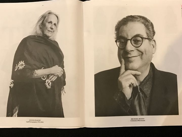 <em>Sylvia Plachy and Michael Musto</em>