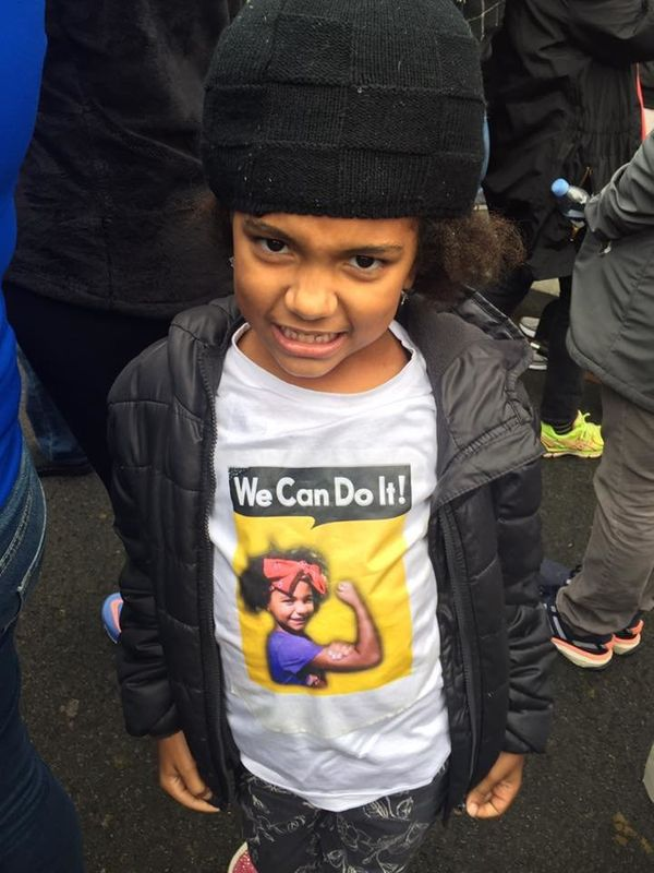 """""""My 7-year-old at a peaceful protest because she will not be quiet!"""""""