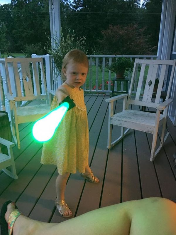 """""""Girly girl who loves her dresses and princesses, but also can beat anyone in a lightsaber duel!"""""""