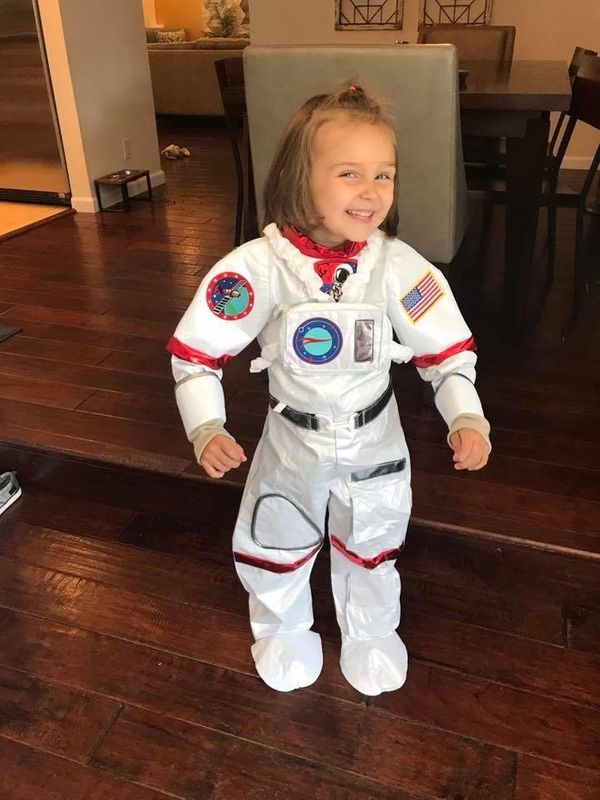 """""""Because girls want to be astronauts, too! Got this on the 'boy' costume rack at Costco...sigh."""""""
