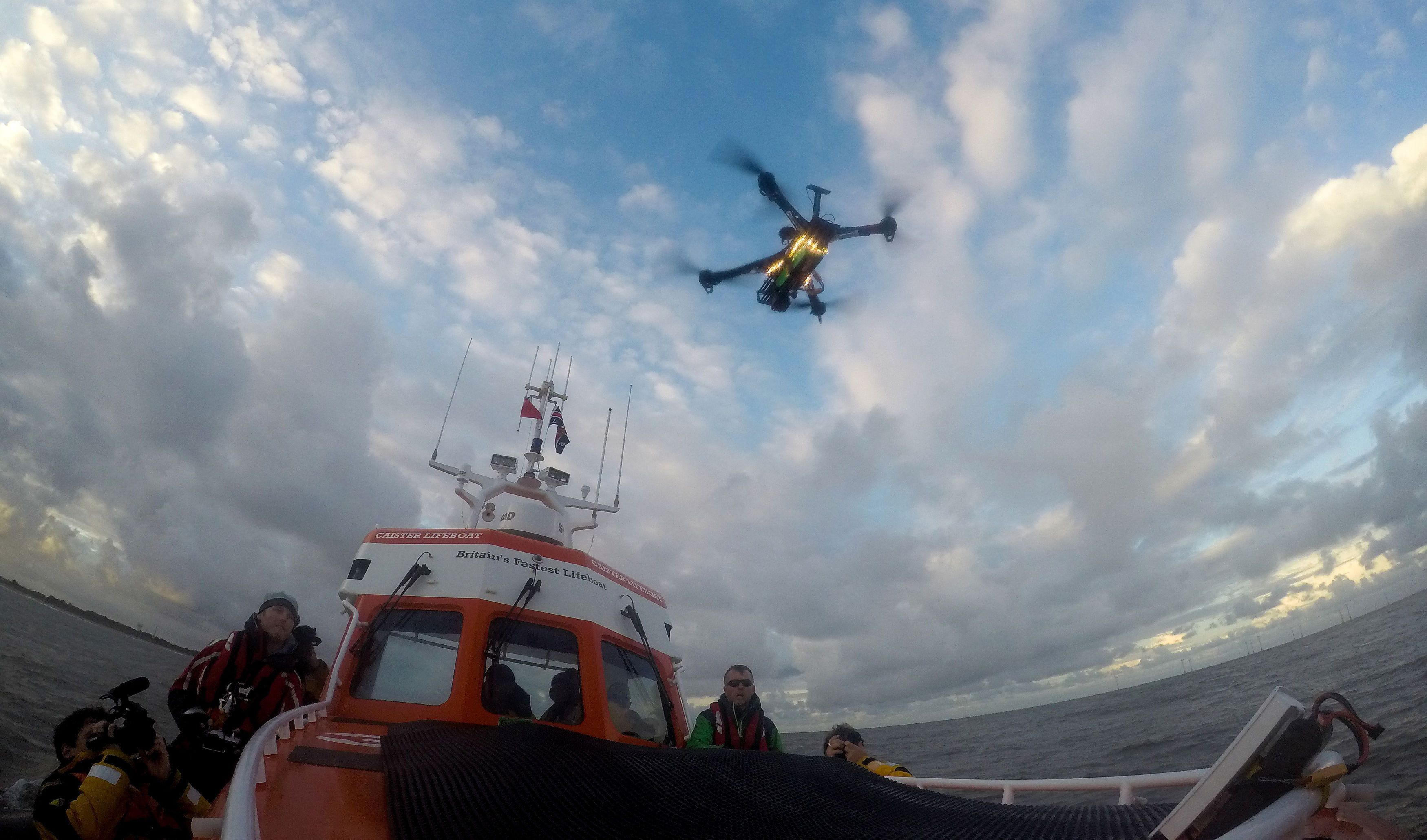 UK Lifeboat Crew Trial Using Drones For Search And
