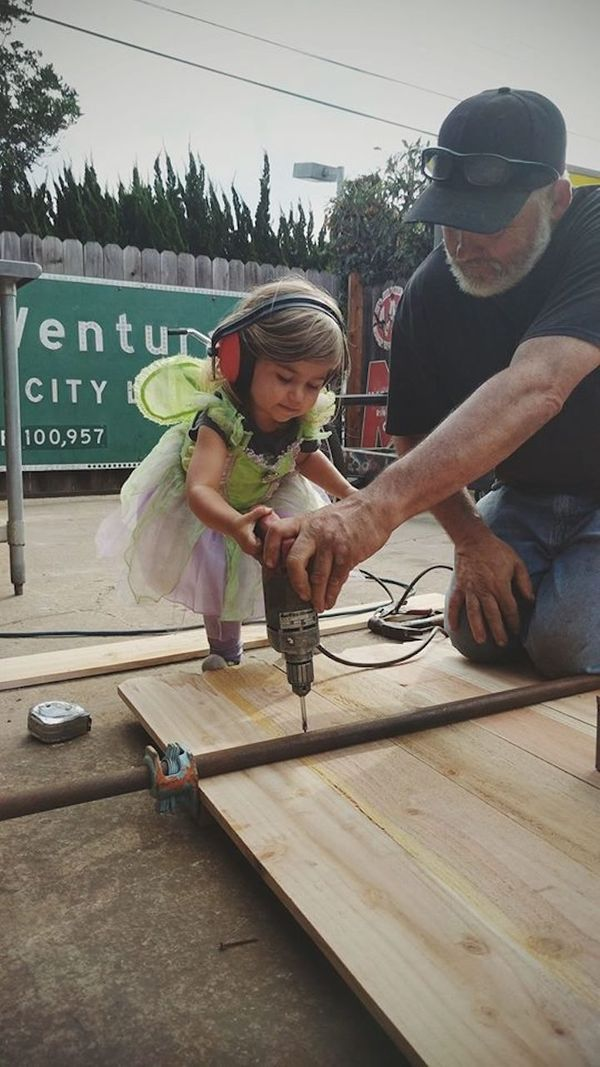 """""""My 2-year-old likes to build things with her Papa."""""""