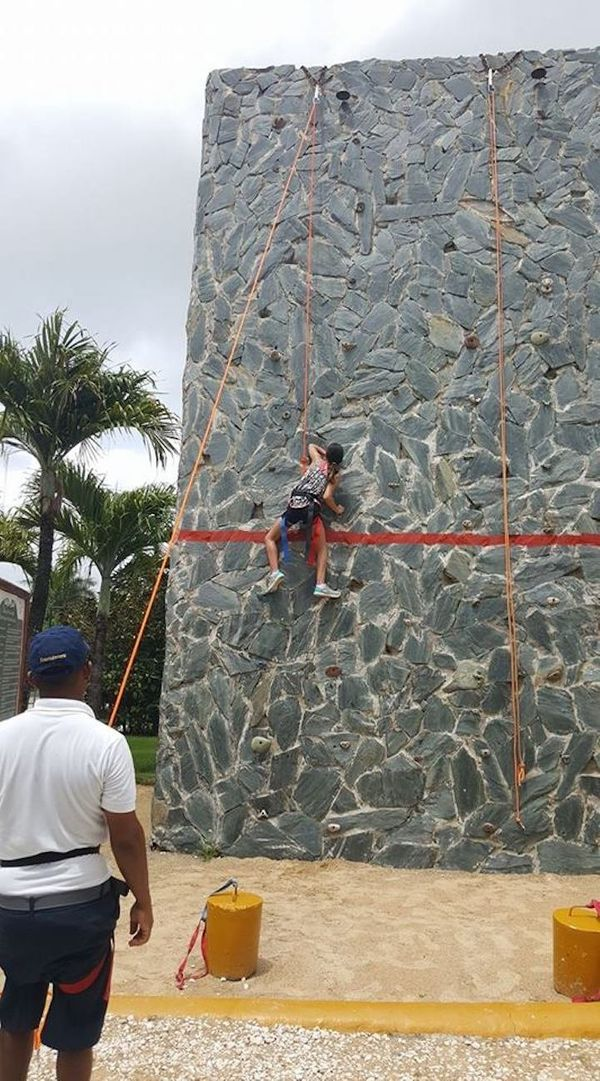 """""""My 11-year-old daughter. Two other boys tried before her to make it to the top, but couldn't. She made it."""""""