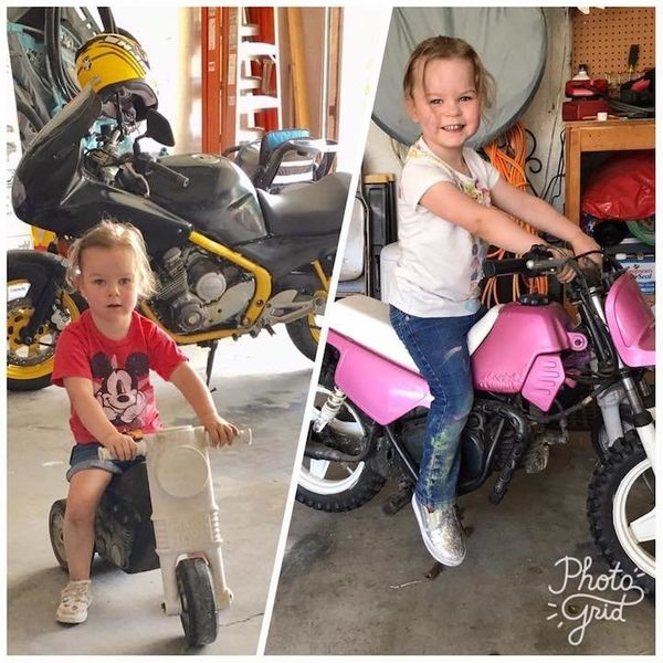 """""""Adrenaline junkie 3-year-old. Born with a rare heart defect and a need for speed. Prefers Mickey over Minnie, and wants Dadd"""