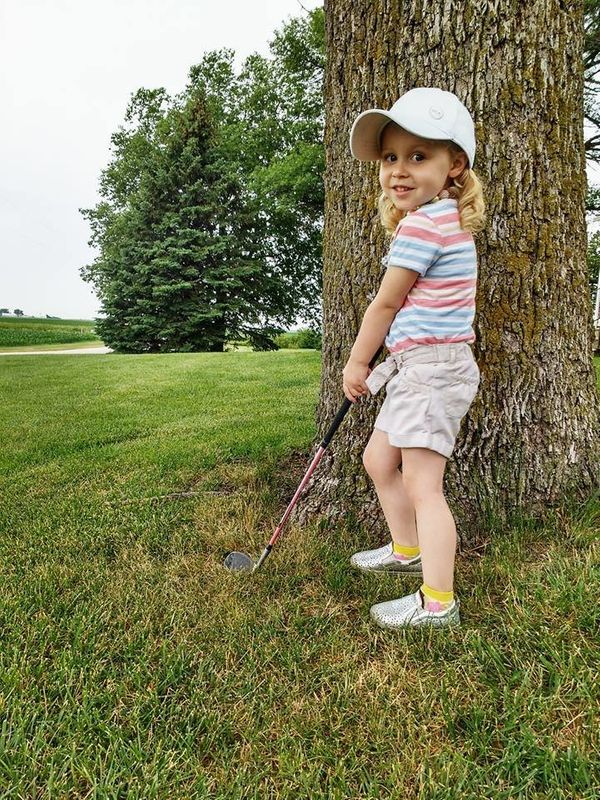 """""""My little golfer girl has a great swing at 3 years old! She sinks putts left and right, and wants to hit her drives as far a"""