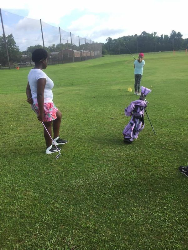 """""""There are women golfers, but there aren't many African-American women golfers and I'm proud of her for giving it a go!"""""""