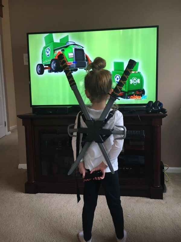 """""""One of my favorite photos of my 5-year-old daughter. She enjoys (pretend) samurai swords and dressing up as superheroes and"""