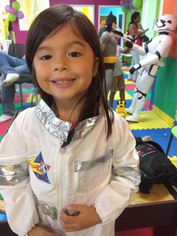 """""""My daughter is 5 and loves anything that has to do with outer space: 'Star Wars,' rocket ships, etc. She loves superheroes a"""