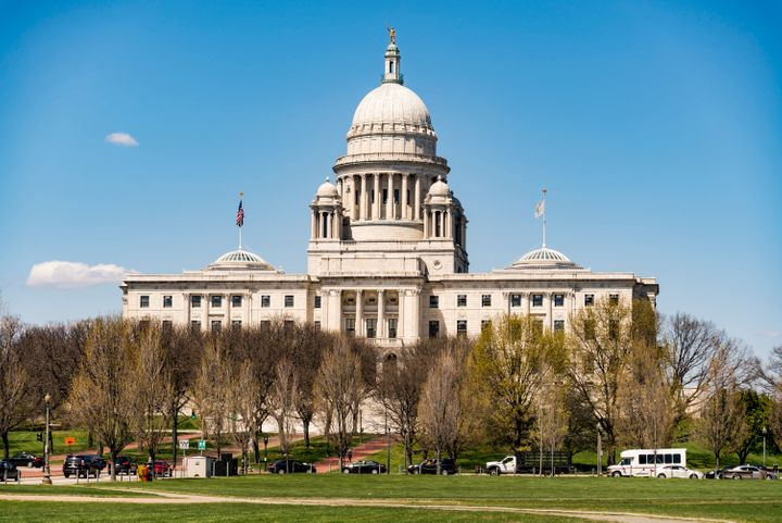 The Rhode Island State House in Providence, Rhode Island.