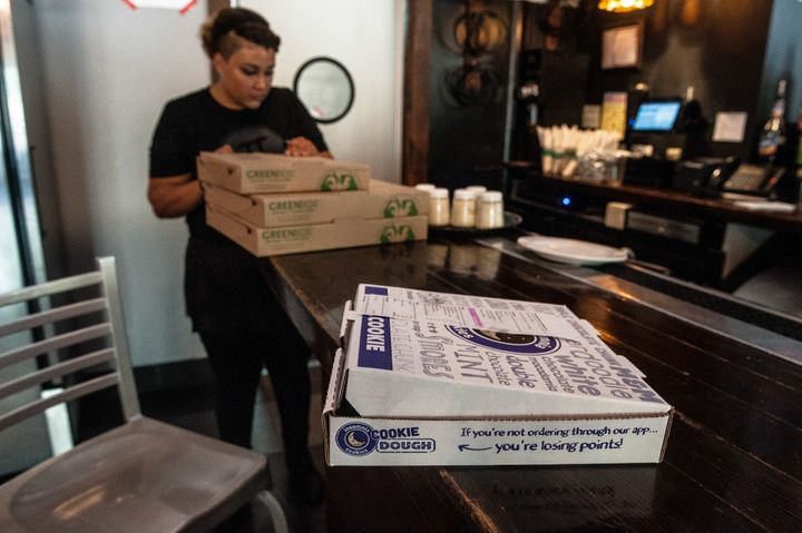 Employees at Pi Pizzeria received an anonymous gift of Insomnia Cookies from someone hoping to show support.