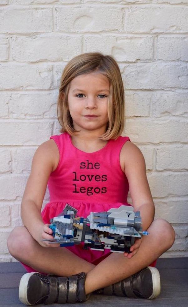 """""""Our 5-year-old is a strong, smart, and confident girl! She loves Legos, Star Wars, bike riding and skateboarding, but still"""