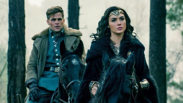 Wonder Woman with her love interest int he film,Steve