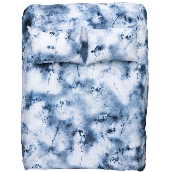 "It's ""graffiti for the modern dweller."" <a href=""https://www.ahalife.com/product/149000054406/duvet-cover-pillows-by-moonish-"