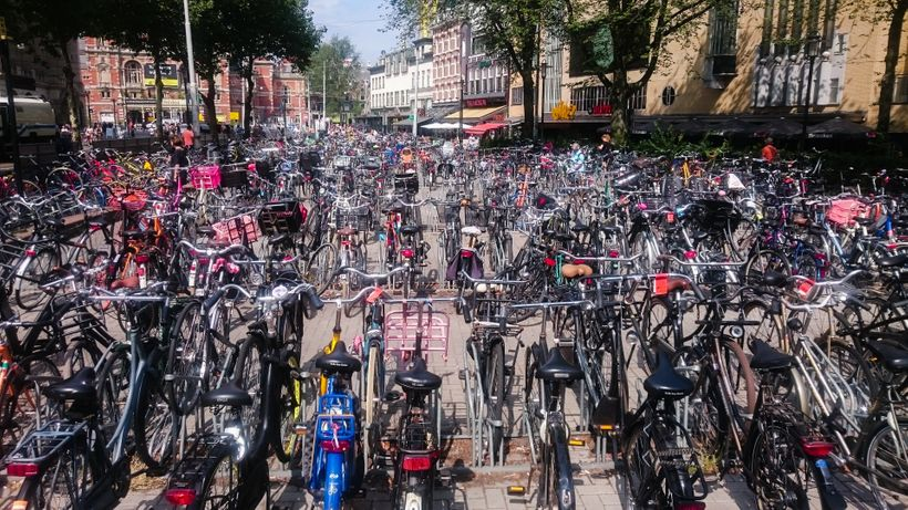 Typical bike parking lot, Amsterdam