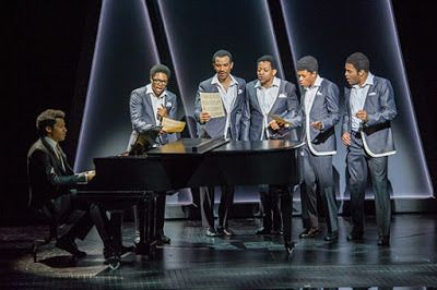 Smokey Robinson (Christian Thompson) plays a new song for The Temptations in <strong><em>Ain't Too Proud</em></strong>