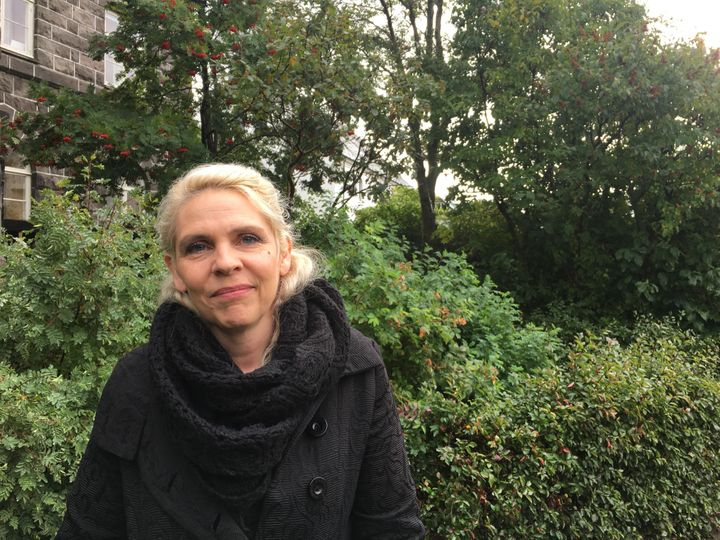 Birgitta Jónsdóttir, in the garden outside Iceland's Parliament House, on Monday morning, says she worries the