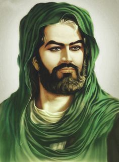 Painting of Imam Hussain, Martyr of Karbala.