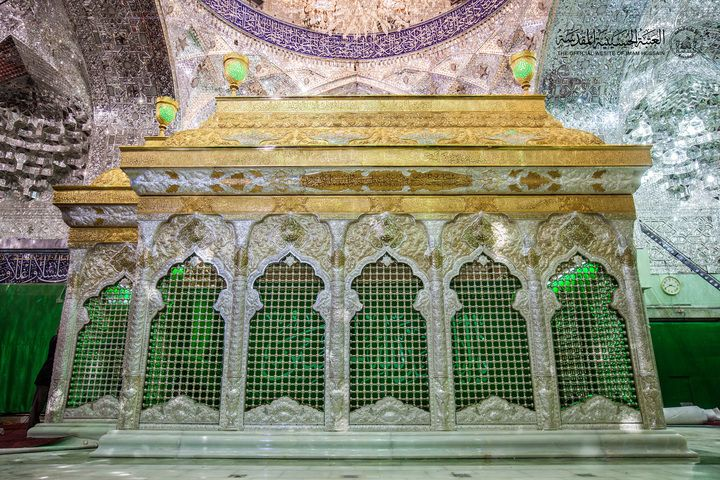 The Holy Grave of Imam Hussain in Karbala, Iraq.