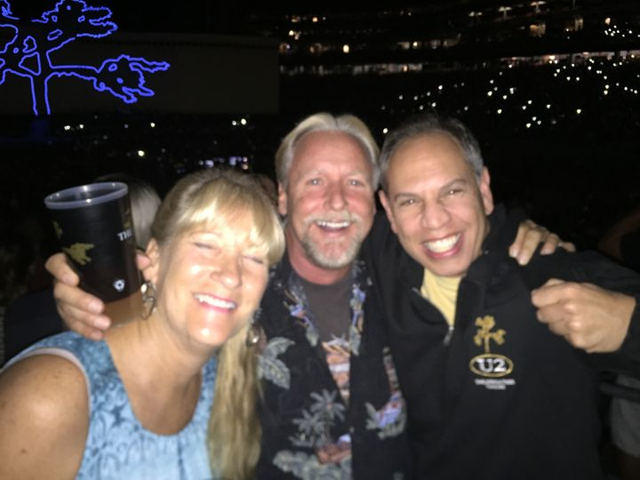 Lisa, Richard and Michael at the U2 show at University of Phoenix Stadium. With each new political disagreement, an even bigg