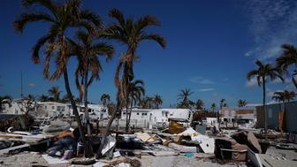 A damaged home is pictured after Hurricane Irma in Cudjoe Key,. Florida, U.S., September 17, 2017. REUTERS/Carlo Allegri