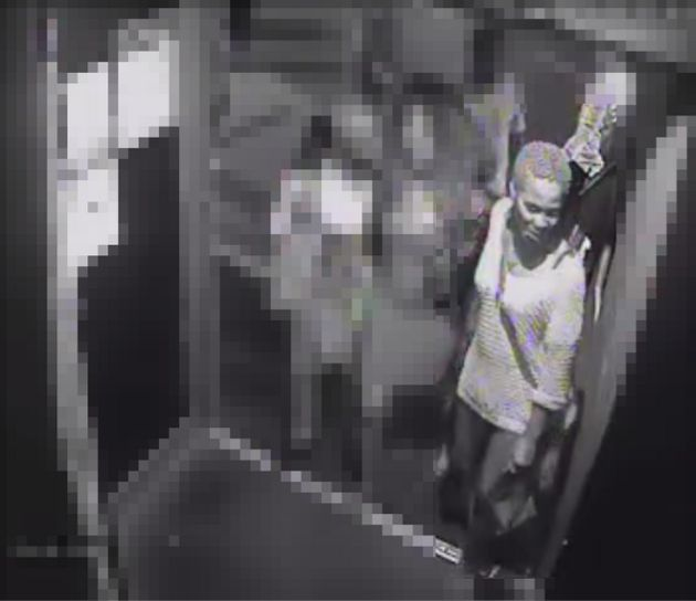 This woman was pictured in the doorway of Flex nightclub at around