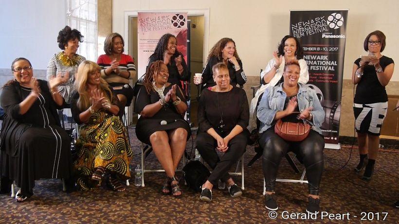 <em>Women Behind The Mic</em> panelists at the Newark International Film Festival. Sunday, Sept. 10, 2017.