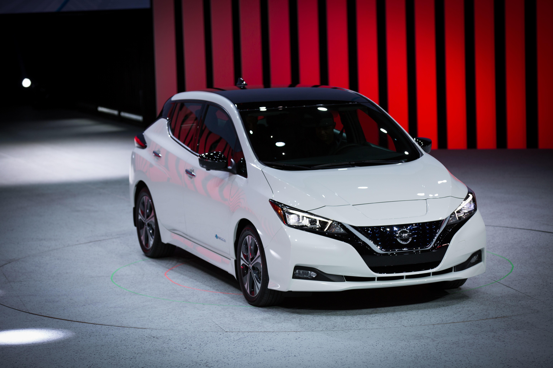 2018 Nissan Leaf Debuts In Las Vegas