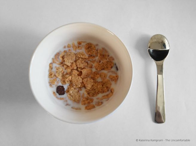 Hope you don't actually like eating cereal, because you'll never get it out of this little spoon's cup.
