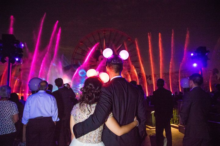 Guests got to watch the 'World of Color' show from a special area.