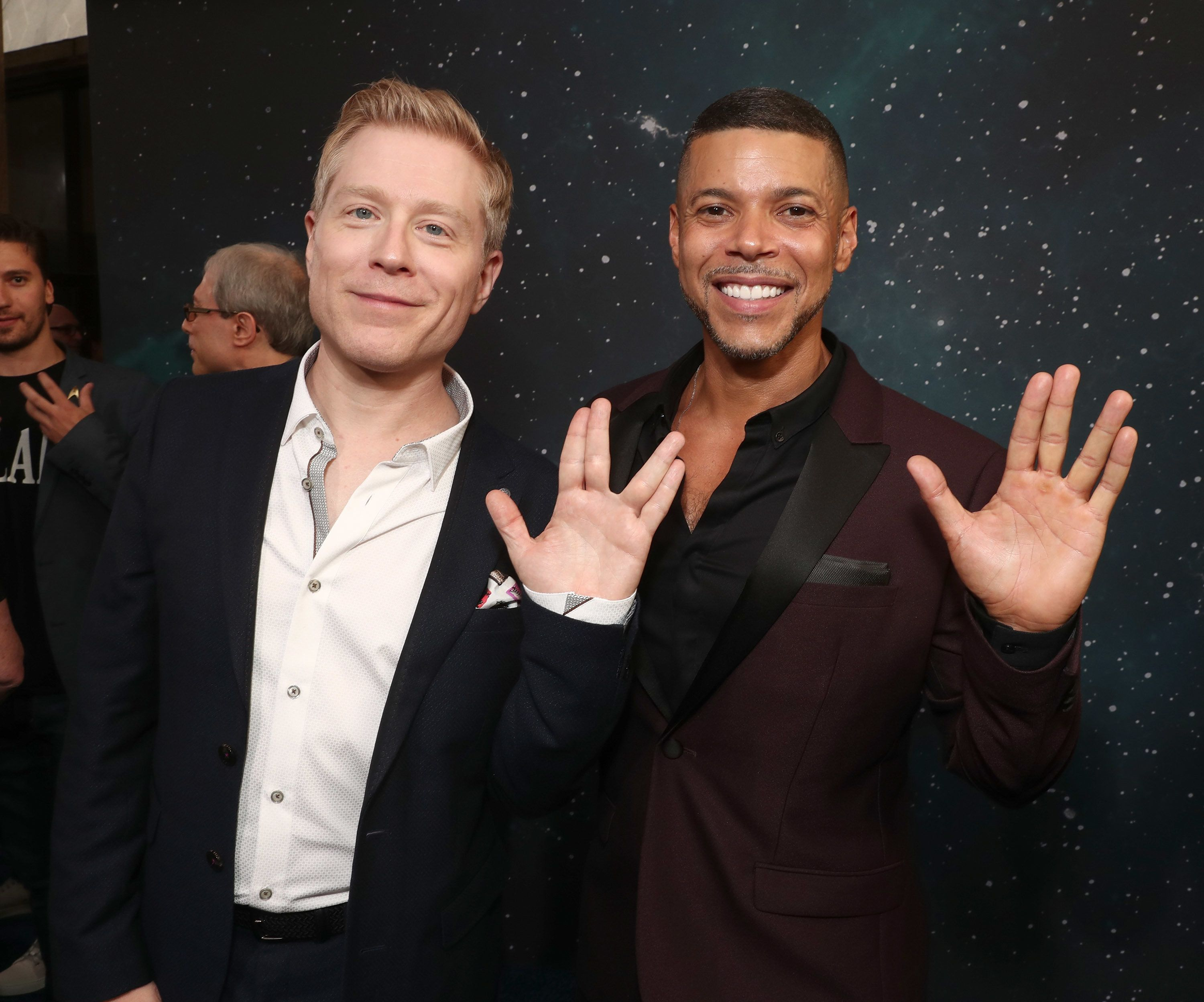 LOS ANGELES, CA - SEPTEMBER 19:  Anthony Rapp and Wilson Cruz attend the premiere of CBS's 'Star Trek: Discovery' at The Cinerama Dome on September 19, 2017 in Los Angeles, California.  (Photo by Todd Williamson/Getty Images)