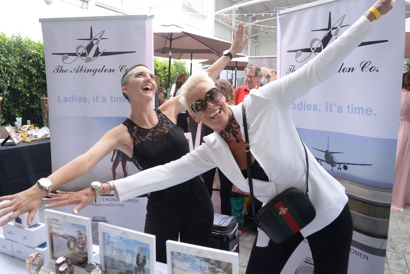 "Brigitte Nielson (""Beverly Hills Cop II  & ""Red Sonja"") with Abingdon Timepieces"