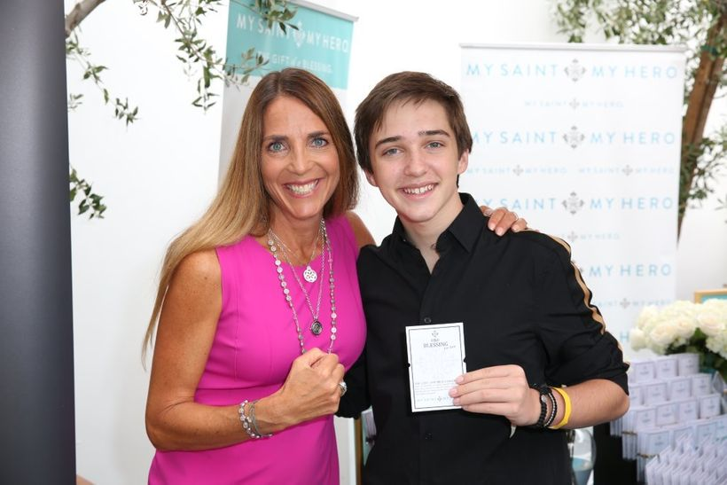 """Michael Campion, Star of """"Fuller House"""" with My Saint, My Hero Blessing Bracelets"""