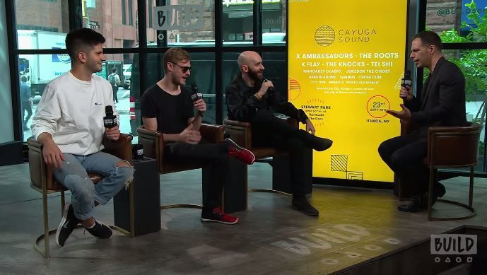 Interview with X Ambassadors at BUILD Series. Moderated by Joe Levy.