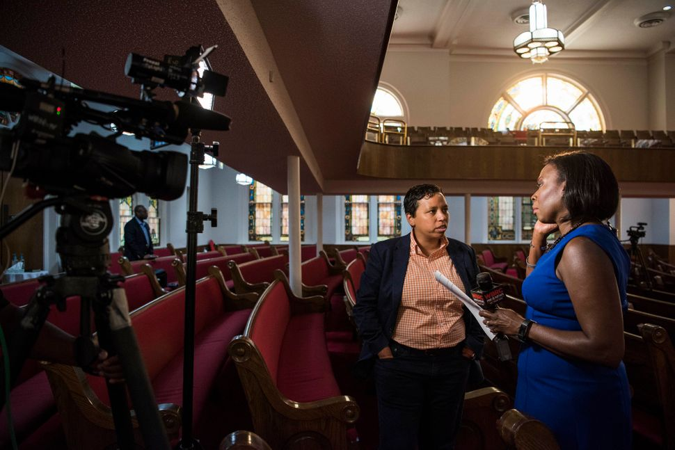 "Sarah Verser interviews Lydia Polgreen before the ""Overcoming and Surviving Inner City Violence in Birmingham"" event."