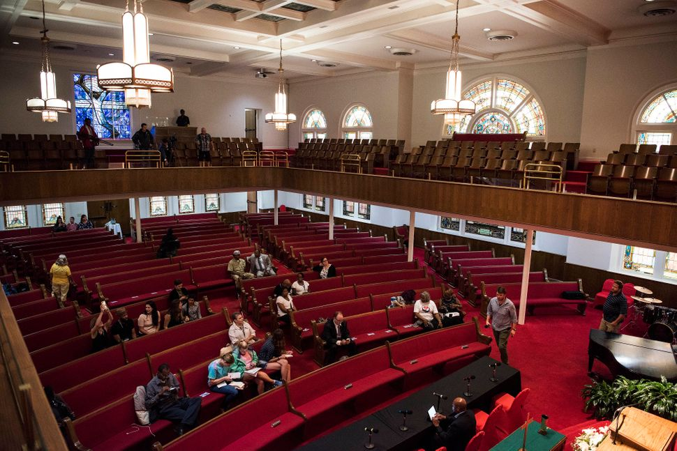 Interior shots of the 16th Street Baptist Church.